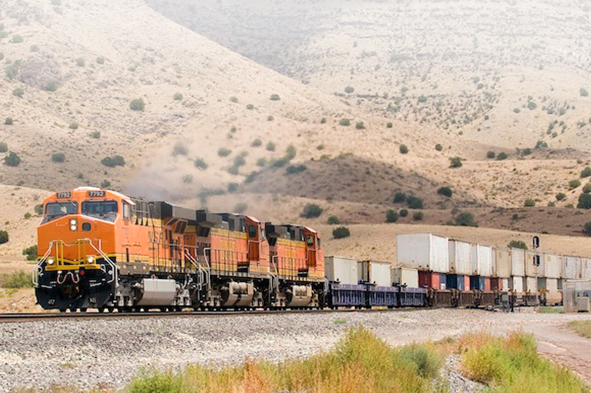 Train Carrying Intermodal Containers