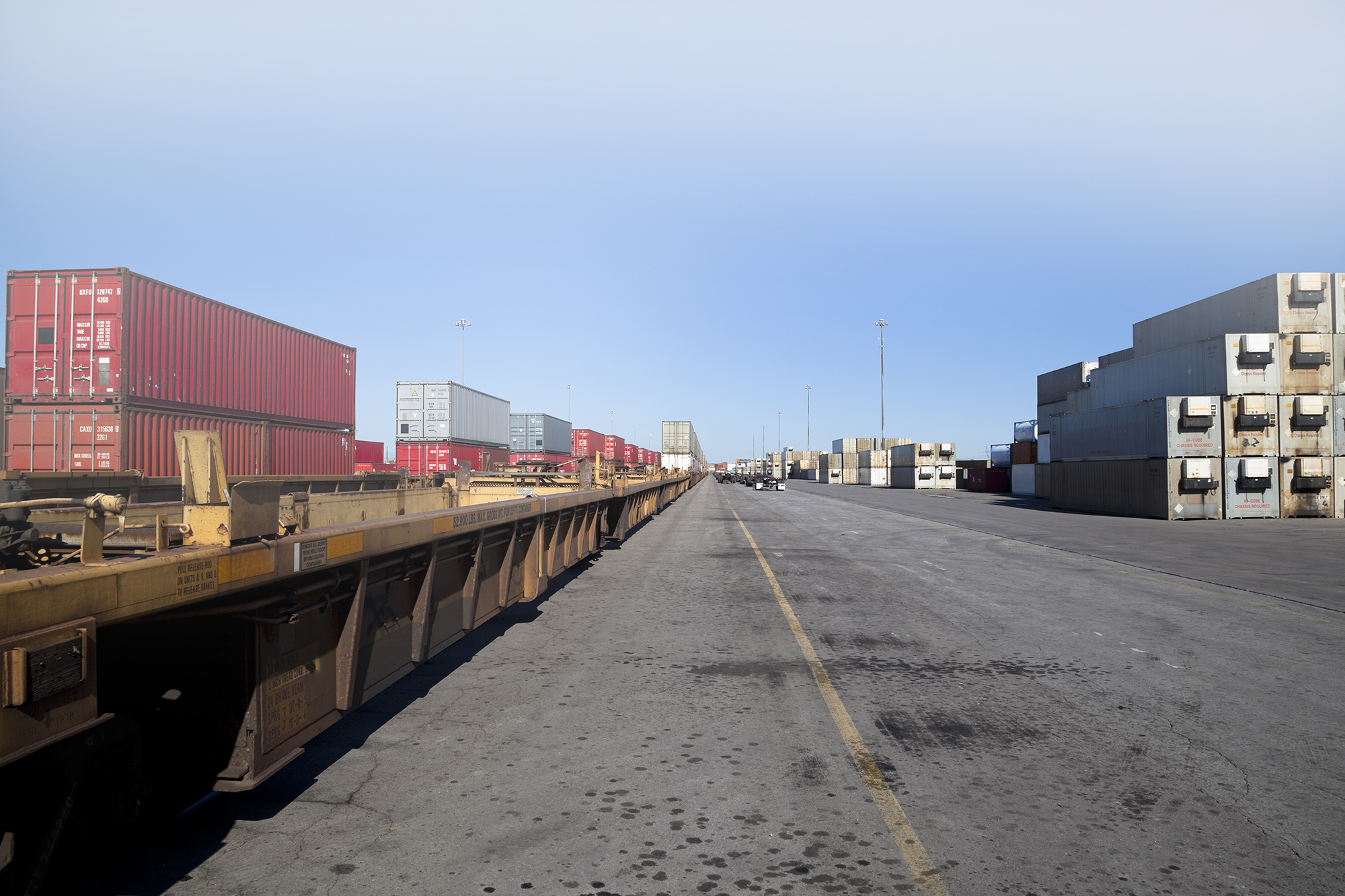 Intermodal Containers On a Train