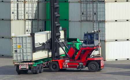 Intermodal container loading