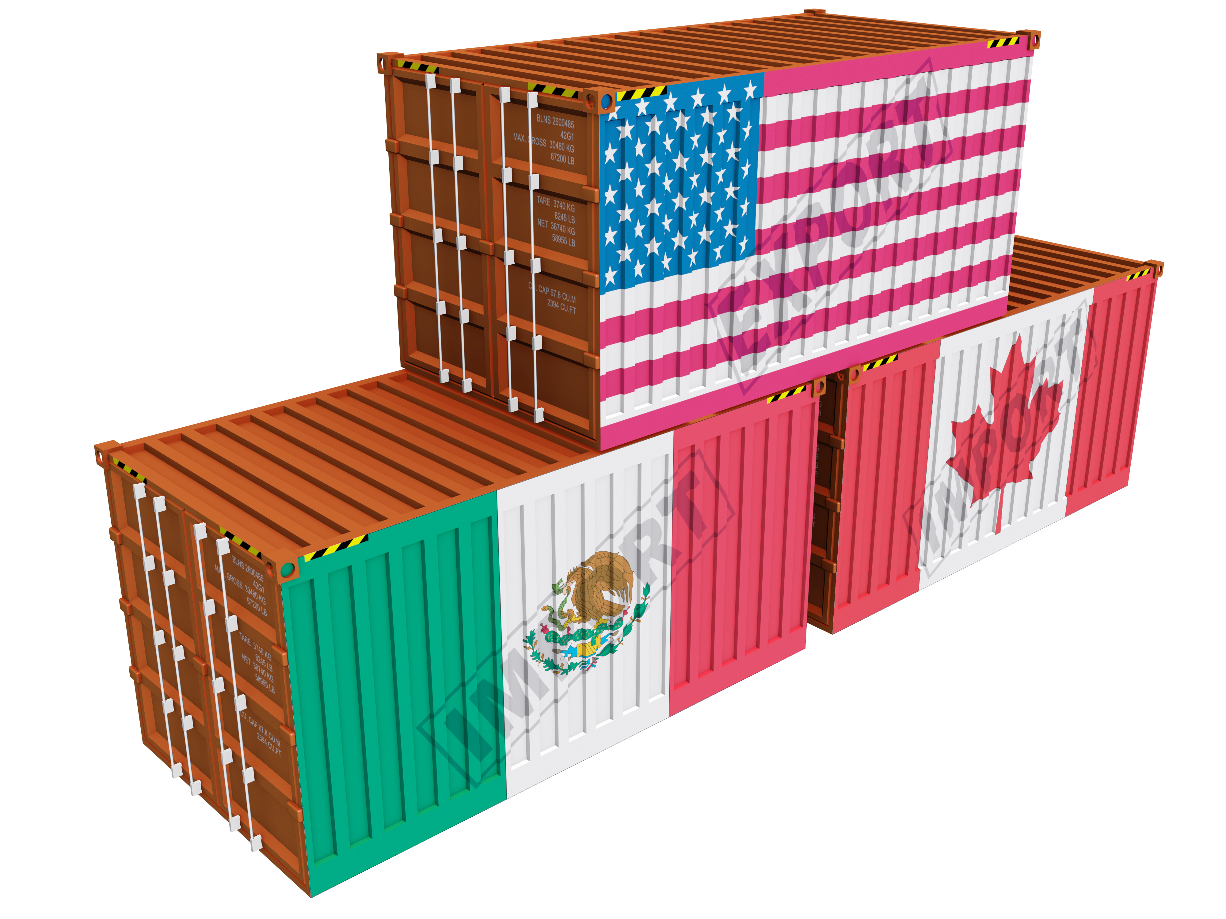 USA Canada Mexico Intermodal