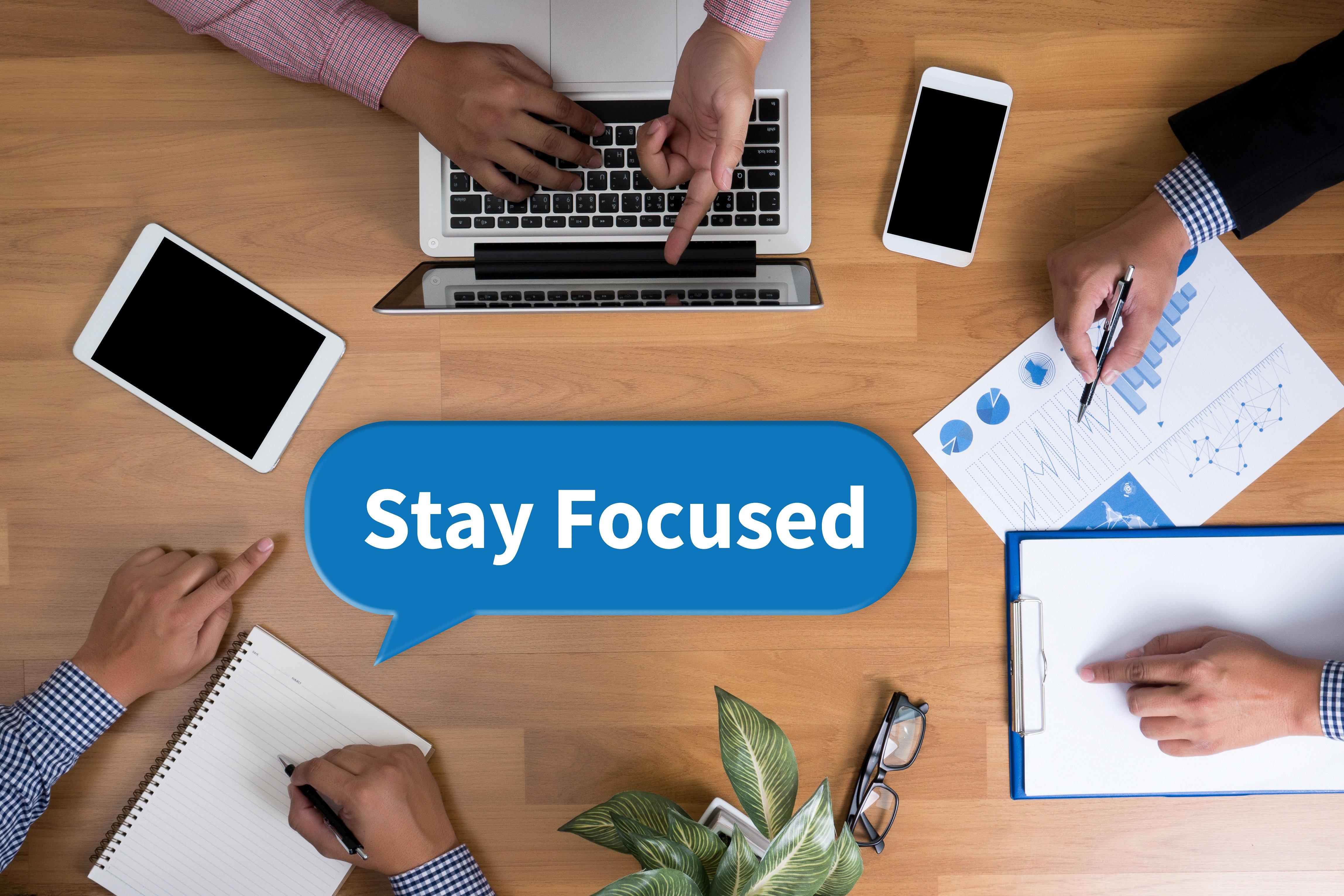 stay focused on logistics