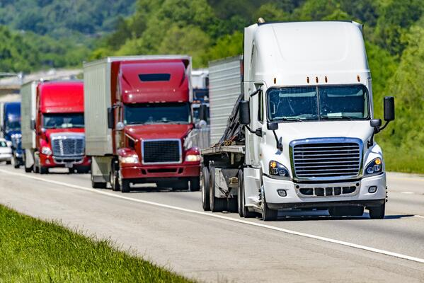 trucks on highway-2